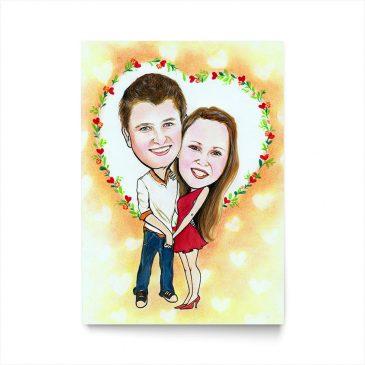Couple Face Canvas